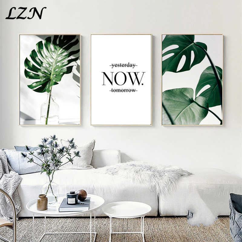 Nordic Minimalism art posters print painting wall decor modren landscape pictures leaves draw for livingroom home deco unframed