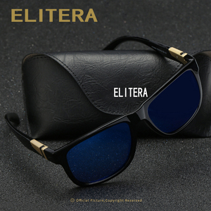 Image 3 - ELITERA Square Wide Frame Sunglasses For Men Women Polarized Glasses