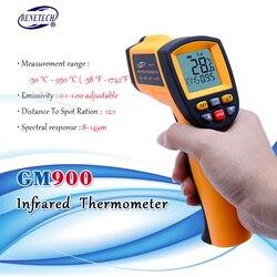 Z pojemnik turystyczny bezdotykowy precyzyjny cyfrowy wskaźnik laserowy na podczerwień termometr na podczerwień GM900 -50C ~ 950C