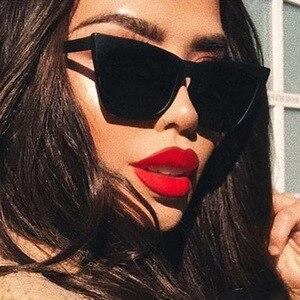 2020 new sunglasses women Square glasses Personalized cat eyes Colorful sunglasses men trend versatile sun glasses uv400 glasses