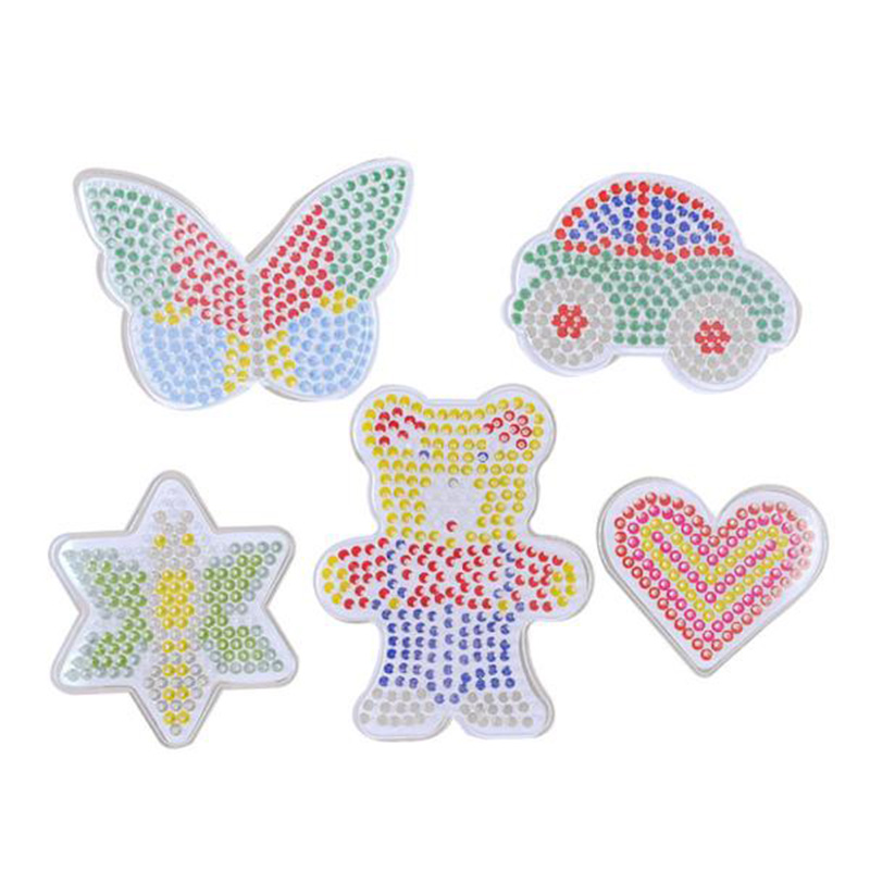 5mm 2.6mm Hama beads 5mm Boards Clear Plastic Pegboards Fuse Beads Pegboards learning toys for children(China)