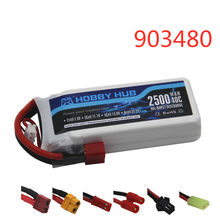 Bateria de lipo 7.4 v 2500mah, bateria de lipo 40c para syma x8c x8w x8g x8 12428 12423 rc quadcopter partes de carro 7.4 bateria de brinquedos v 903480