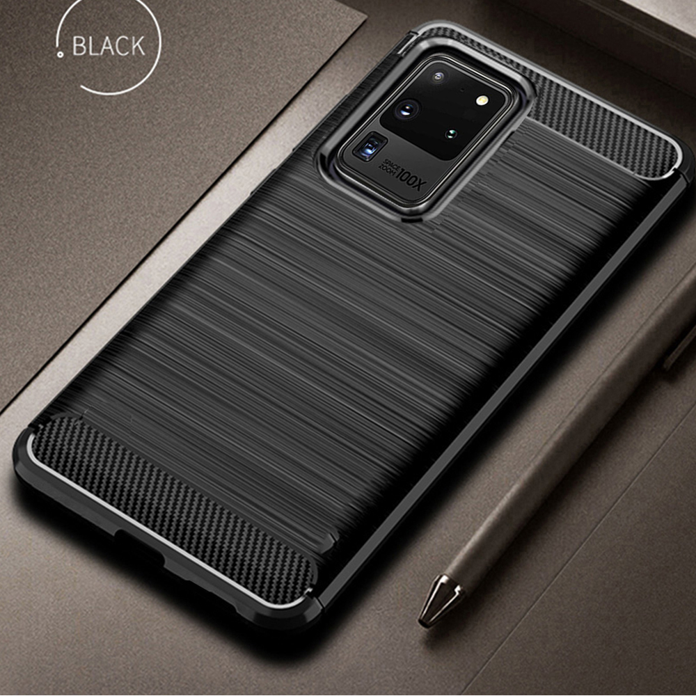 For Samsung Galaxy S20 S 20 Ultra Case Carbon Fiber Cover Shockproof Phone Case For Samsung S20+ S 20 Plus 5G Cover Flex Bumper