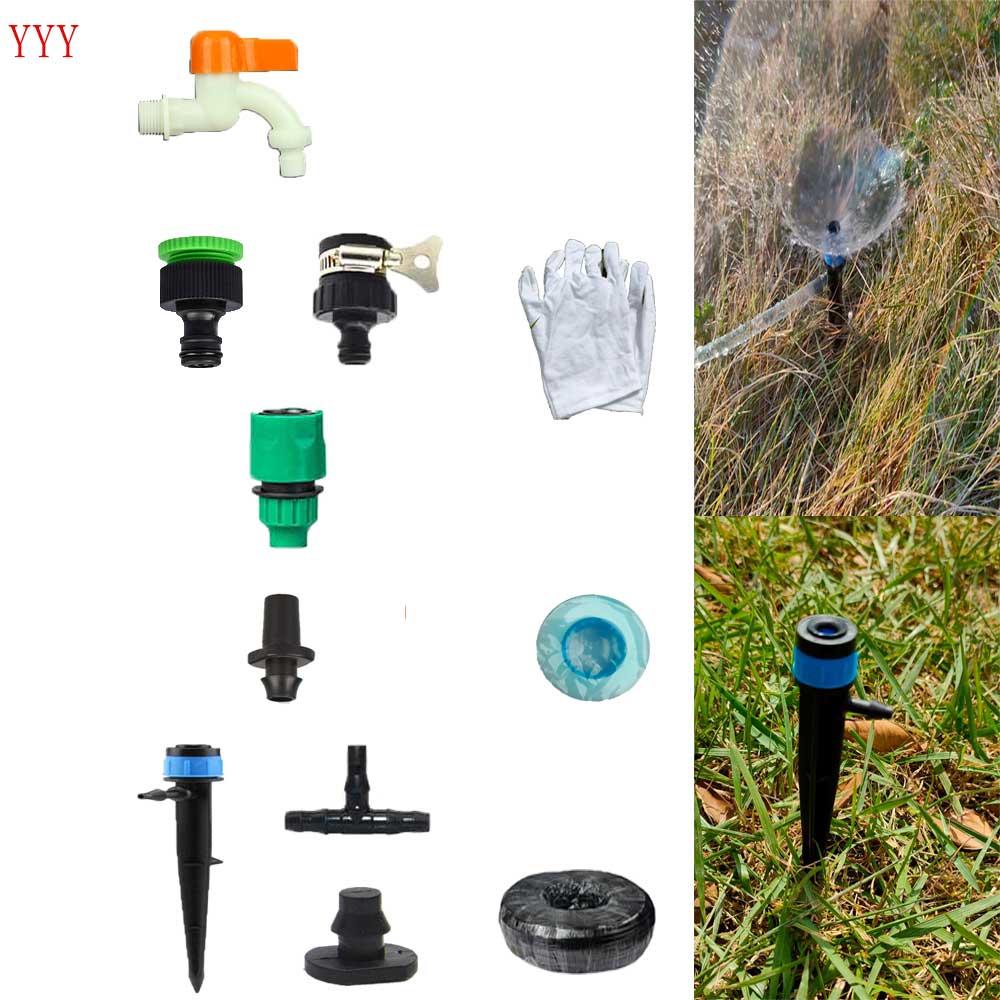 360 grad spray düse blau unterstützung stange halter bewässerung kits wasser lautstärke einstellbar bewässerung kits