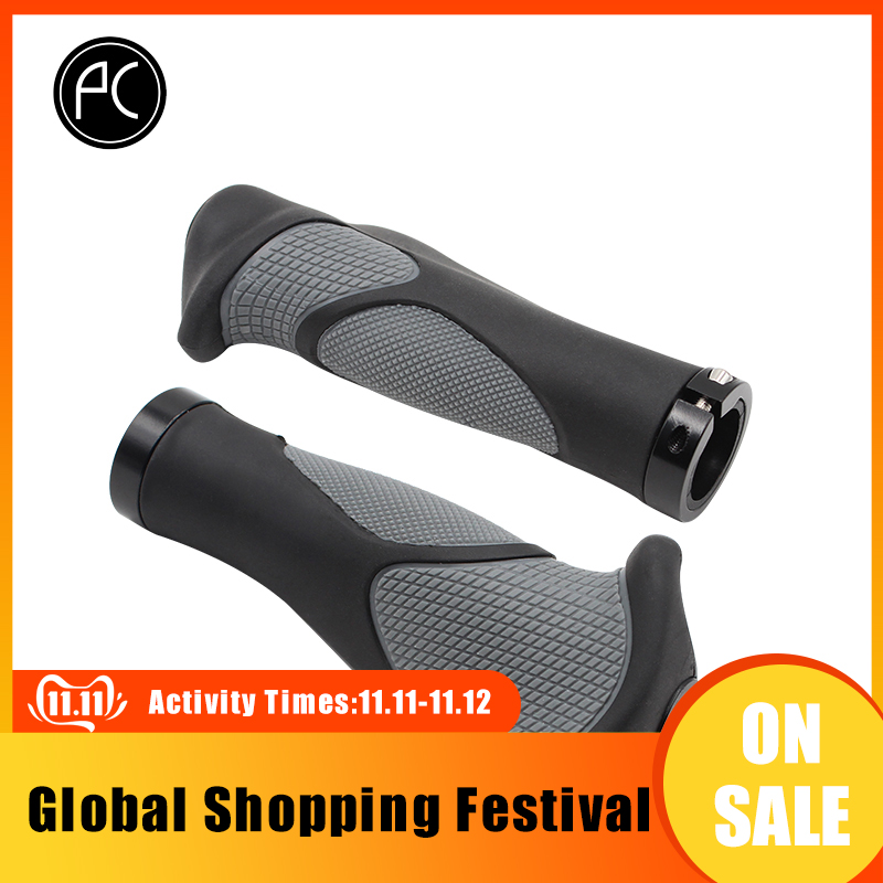 PCycling Ergonomic Bicycle Grips Handlebar TPR Rubber Casing Sheath Tone Non-slip MTB Cycling Hand Rest Shock Absorption Bar End