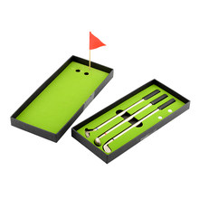 3 uds Mini palos de Golf modelos bolígrafo bandera Putter Iron Set regalo nuevo(China)