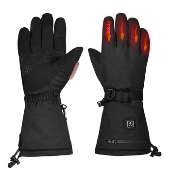 Electric Heated Gloves Winter Warm Skiing Golves with Rechargeable Battery Thermal Gloves Hand Warmer Winter Gloves