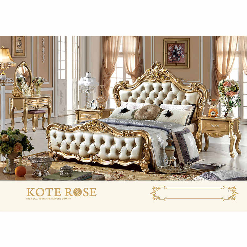 Factory Custom King Size Furniture Bed Classical Luxury Antique Bedroom Sets Bedroom Sets Aliexpress