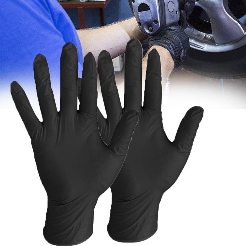 100Pcs Waterproof Disposable Exam Multipurpose Household Anti Slip Tattoo Work Safety Washing Nitrile Gloves Mechanic Latex Free