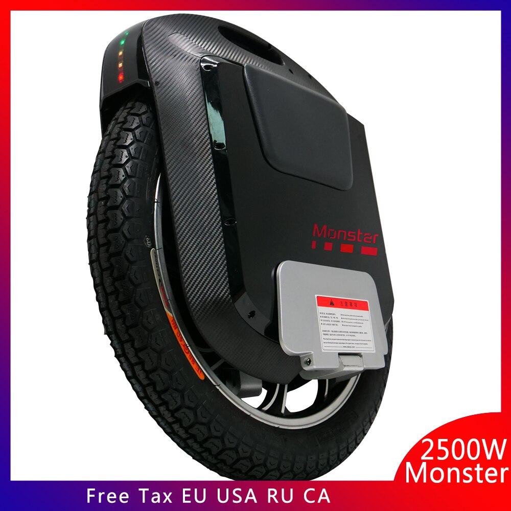 2019 Gotway Monster v3 22 pouces monocycle électrique 100V 1845WH/2460WH 2500W moteur carbone noir Bluetooth haut-parleur