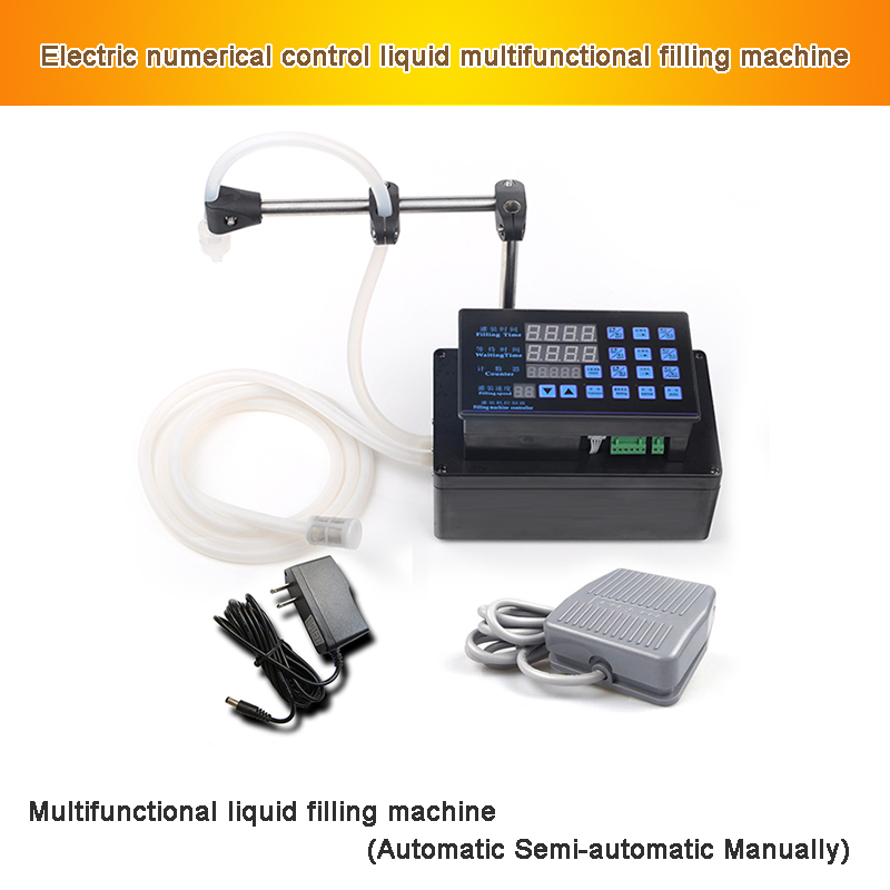 Electrical Liquid Filling Machine Mini Bottled Water Filler Digital Pump For Perfume Drink Water Milk Olive Oil