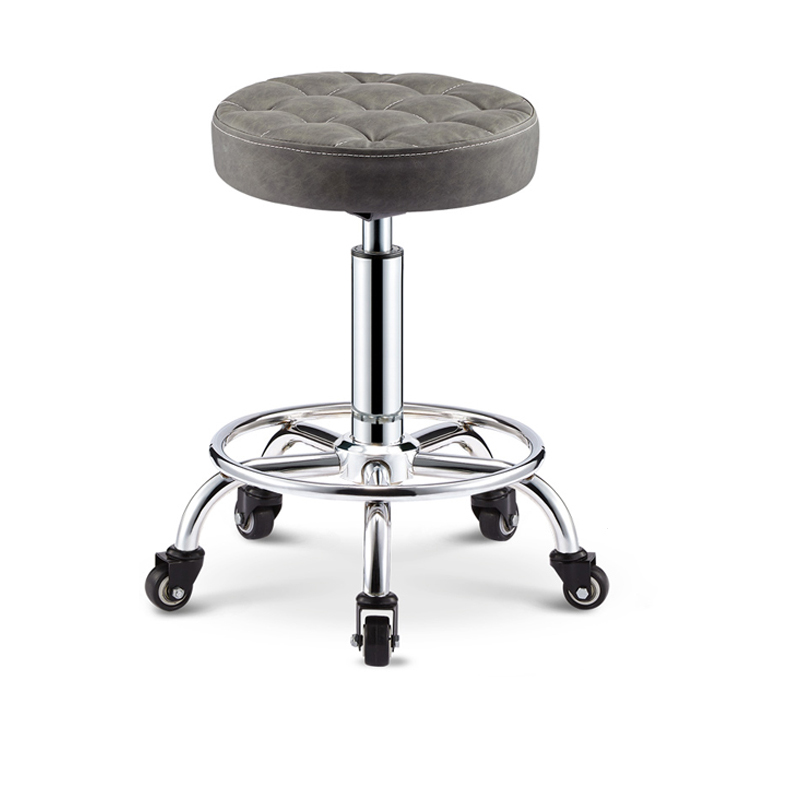 Rotating Lift  Back   Salon  Chair  Barber Chair High  Bar Stool Home  Fashion   Creative   Beauty   Round  Stool Swivel Chair