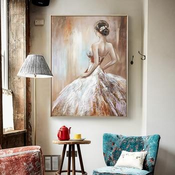 European Statues Painted Oil Painting Decorative Painting The Living Room Luxury Restaurant Light Mural Paintings Vertical Versi
