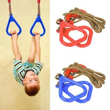 Fitness gymnastique Anneau Hanging balançoire pour les enfants de jardin dintérieur Jouets dextérieur pour les enfants sensorielle Jouer Sport Activité