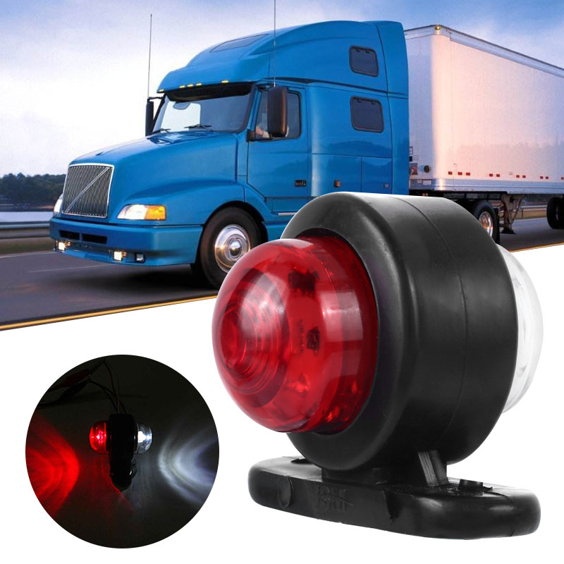 Vehemo LED Truck Side Marker Light For Trucks Pickup RV Red White Trailer Light Traillighht Tail Warning Light Signal Light