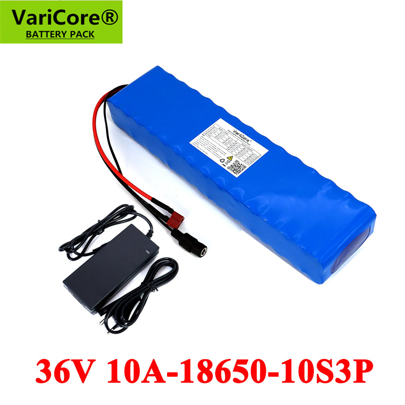 VariCore 36V 10Ah 600watt 10S3P lithium ion battery pack 20A BMS For xiaomi mijia m365 pro ebike bicycle scoot XT60 T plug