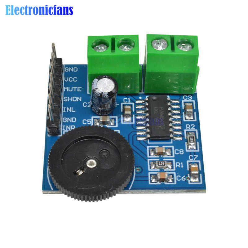 PAM8403 karta do cyfrowego wzmacniacza mocy miniaturowy wzmacniacz mocy klasy D moduł tablicy 2*3W led o wysokiej 2.5-5V zasilacz USB wydajne