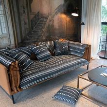 Подушка для дивана из чистого хлопка four seasons серая полоса