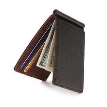 Marca carteira masculina carteiras de pele curta bolsas de couro do plutônio clipes de dinheiro sollid fina carteira para homens bolsas
