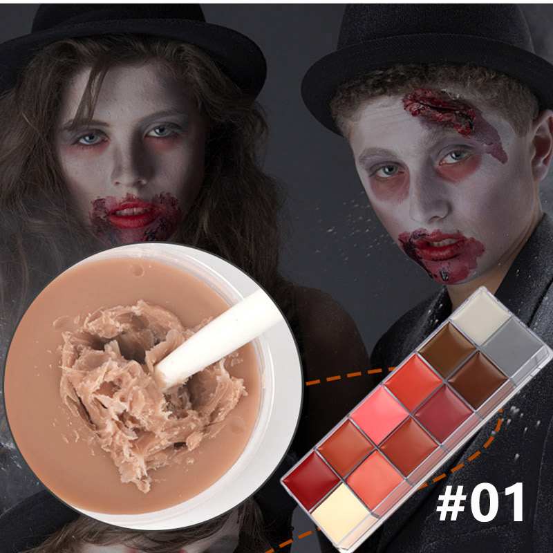 Pro Halloween Special Effect Makeup Pigment-Vampire Pumpkin Makeup Waterproof Fake Wound Scar Movie Stage Special Effects Makeup