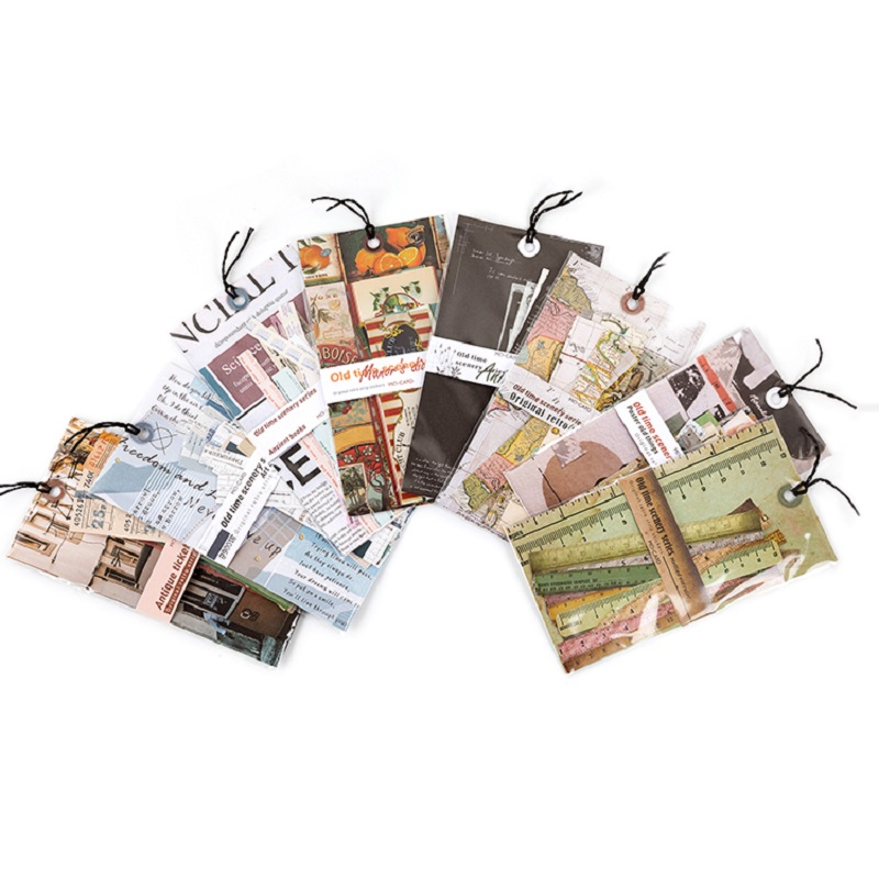 Mr.paper 30Pcs/pack 8 Designs Old Time Scenery Antique Ticket Artistic Stickers Bullet Journal Deco Stationery Children Stickers 6