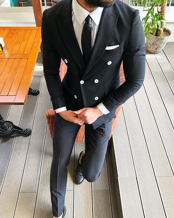 Slim-Fit-Black-Double-Breasted-Wedding-Suits-For-Men-Groom-Best-Man-Party-Prom-Suit-Male