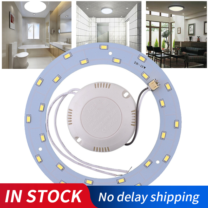 AC220V 24Leds SMD 5730 LED Round Ceiling Board 12W LED Ring Panel Circle Light Circular Lamp Board For Dining Room Pure White