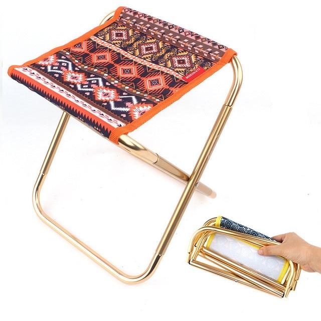 Ультра светильник из алюминиевого сплава, портативный складной стул, складная рыбалка стул для кемпинга, пикник барбекю пляжное сиденье, сумка для хранения