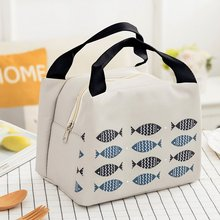 Portable Lunch Box Bag  Neutral Student Kid Lunch Thermal Cooler Handbag Food Picnic Lunch Pouch Storage Ice Bags 2 layers family cooler bags thermal iced drink lunch box picnic food storage shoulder handbag pouch accessories supplies product