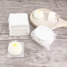 500pcs/pack Round Square Non Stick Papers Kitchen Bamboo Basket Steamer Dim Sum Paper Under Steam Mat