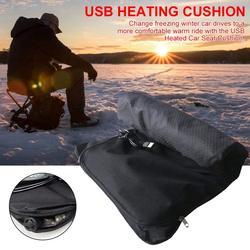 Poduszka rozgrzewająca Pad USB przenośna Warmn nadmuchiwana poduszka rozgrzewająca podgrzewane poduszki do siedzenia na zimę Outdoor Fishing Ski Office Car w Narzędzia wędkarskie od Sport i rozrywka na