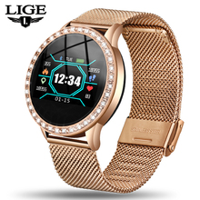 2019 LIGE Brand Women Smart Watch Men Sport Watches Heart Rate Blood Pressure Health Monitor Fitness smartwatch For Android IOS