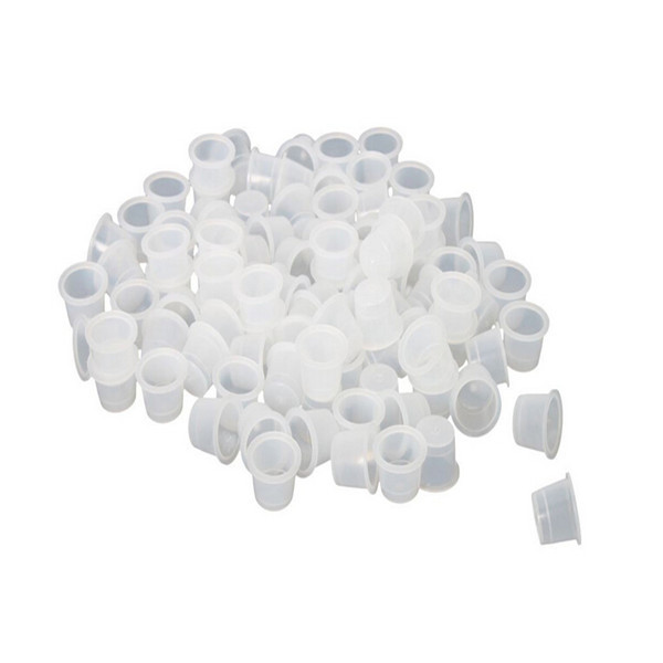 100pcs/lot Disposable Permanent Makeup Tattoo Ink Pigment Cups & Caps Tattoo Supplies