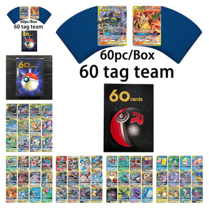 hot Pokemon Cards 60pcs Tag Team No Repeat Pokemons toys Card Shining Cards Game Battle Carte Tradin PIKACHU gift