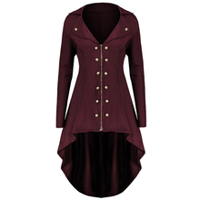 2019 Autumn New Arrival Women Vintage Steampunk Victorian Swallow Tail Long Trench Coat Jacket Thin Outwear S-3XL