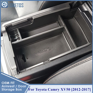 Image 3 - * Camry Car Armrest Box Center Console Storage Glove Box Organizer Insert Tray For Toyota Camry 2012 2013 2014 2015 2016 2017