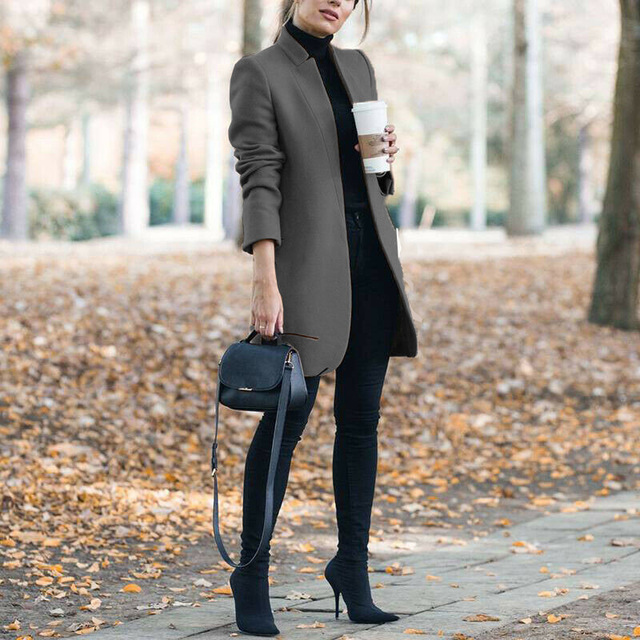 2020 Autumn And Winter New Womens Long Woolen Coat Green Army Woolen Coat Female Long Section Korean Version Of The Fashion Coat