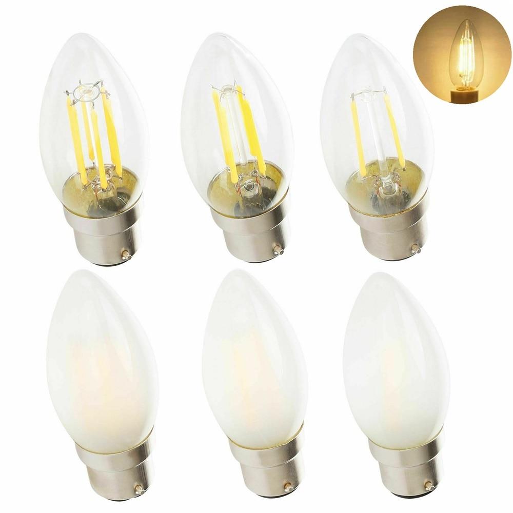 Vintage Retore Dimmable B22 C35 2W 4W 6W Retro LED Chandelier Candle Light Edison Bulb Filament 220V Lamp For Church Home Decor