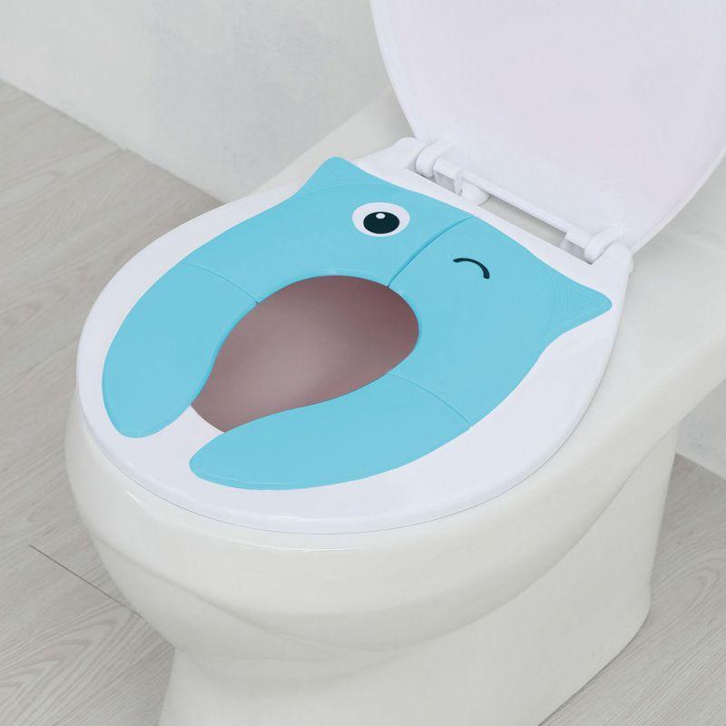 ChildrenNon Slip Travel Folding Portable Toddler Portable Toilet Training Seat Potty Training Seat Fits Most Toilets