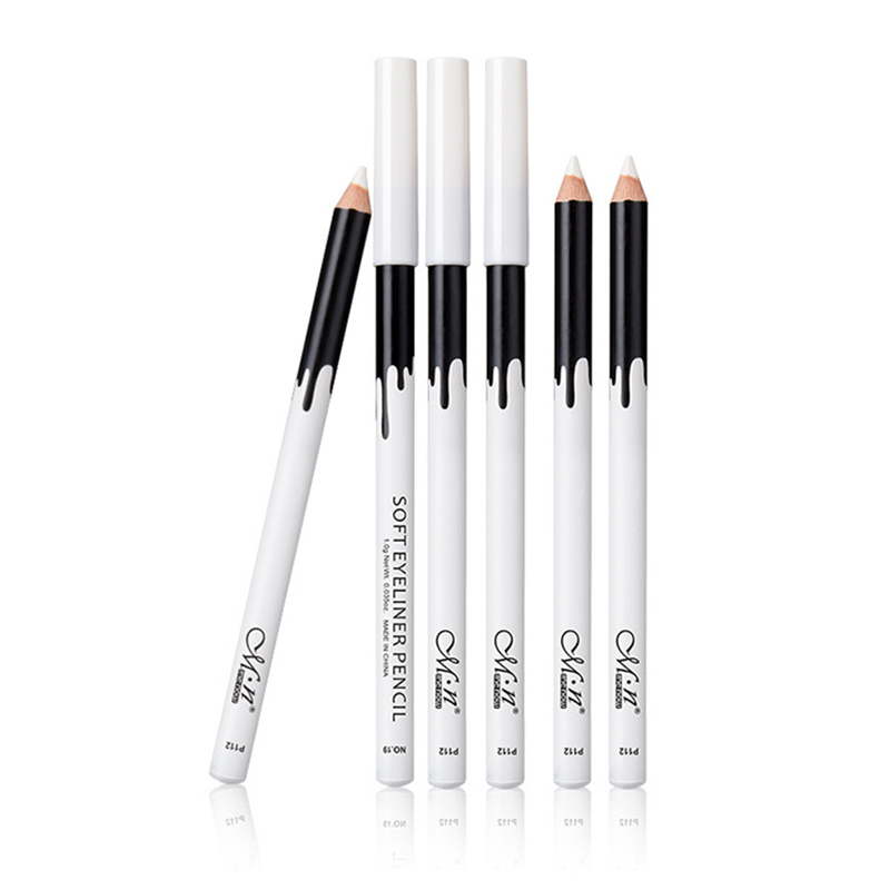 White Eyeliner Makeup Smooth Easy To Wear Eyes Brightener Fast Dry Eye Liner Pen Waterproof Make Up White Eyes Liner Pencils
