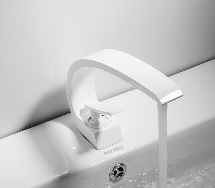 H4c2d94878d4c4efda6eed7faf49d6bbfi Tuqiu Basin Faucet Modern Bathroom Mixer Tap Black/Gold Wash basin Faucet Single Handle Hot and Cold Waterfall Faucet