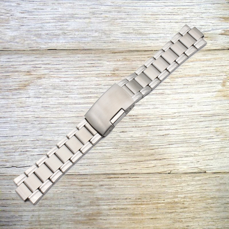 Watch Accessories (Band) Stainless Steel Watch Band Watch Strap MEN'S Watch Dial Pendant Protruding Opening 22*10 Mm