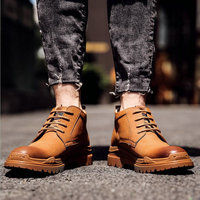 High Quality Genuine Leather Men Work Western Ankle Boots Chelsea Desert Boots Outdoor Working Boots Men Shoes A54 89