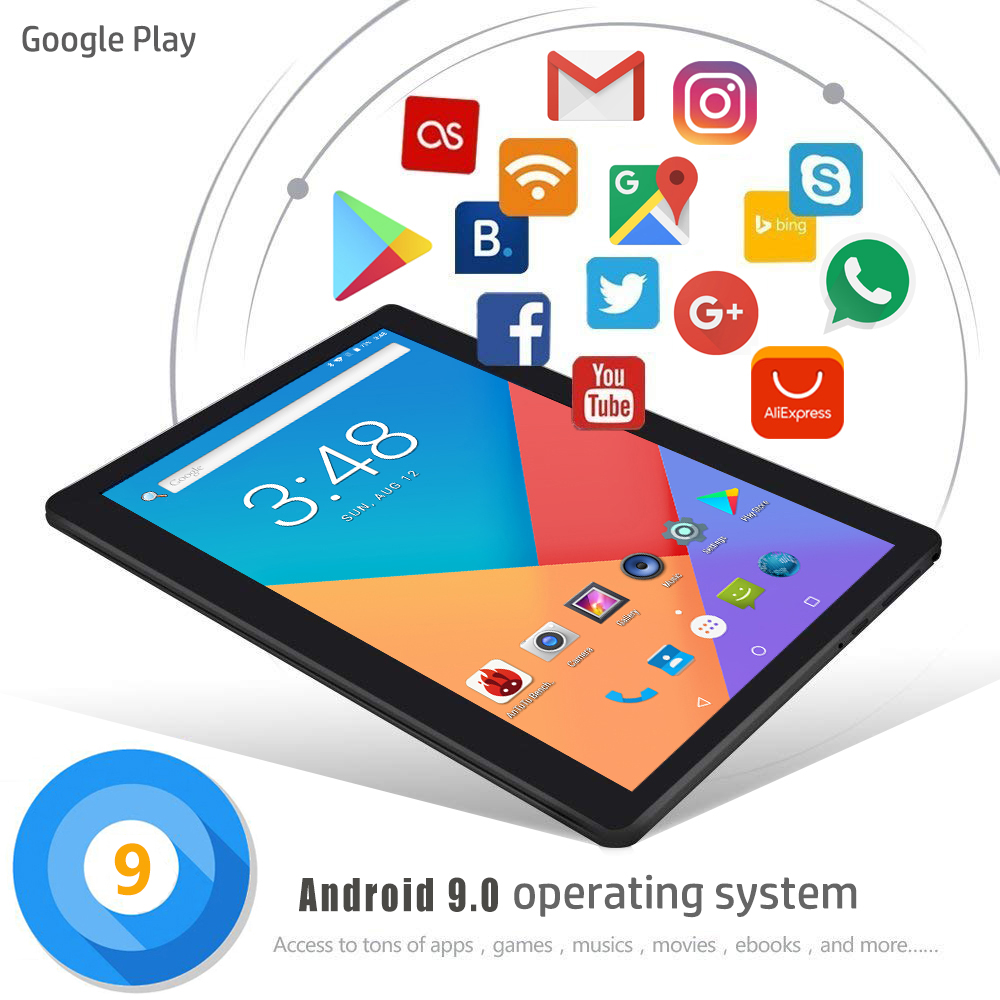 Image 5 - 2020 New 10 inch Tablet PC Octa Core 6GB RAM 128GB ROM 1280*800 IPS 2.5D Tempered Glass 10.1 Tablets Android 9.0+Gifts-in Tablets from Computer & Office