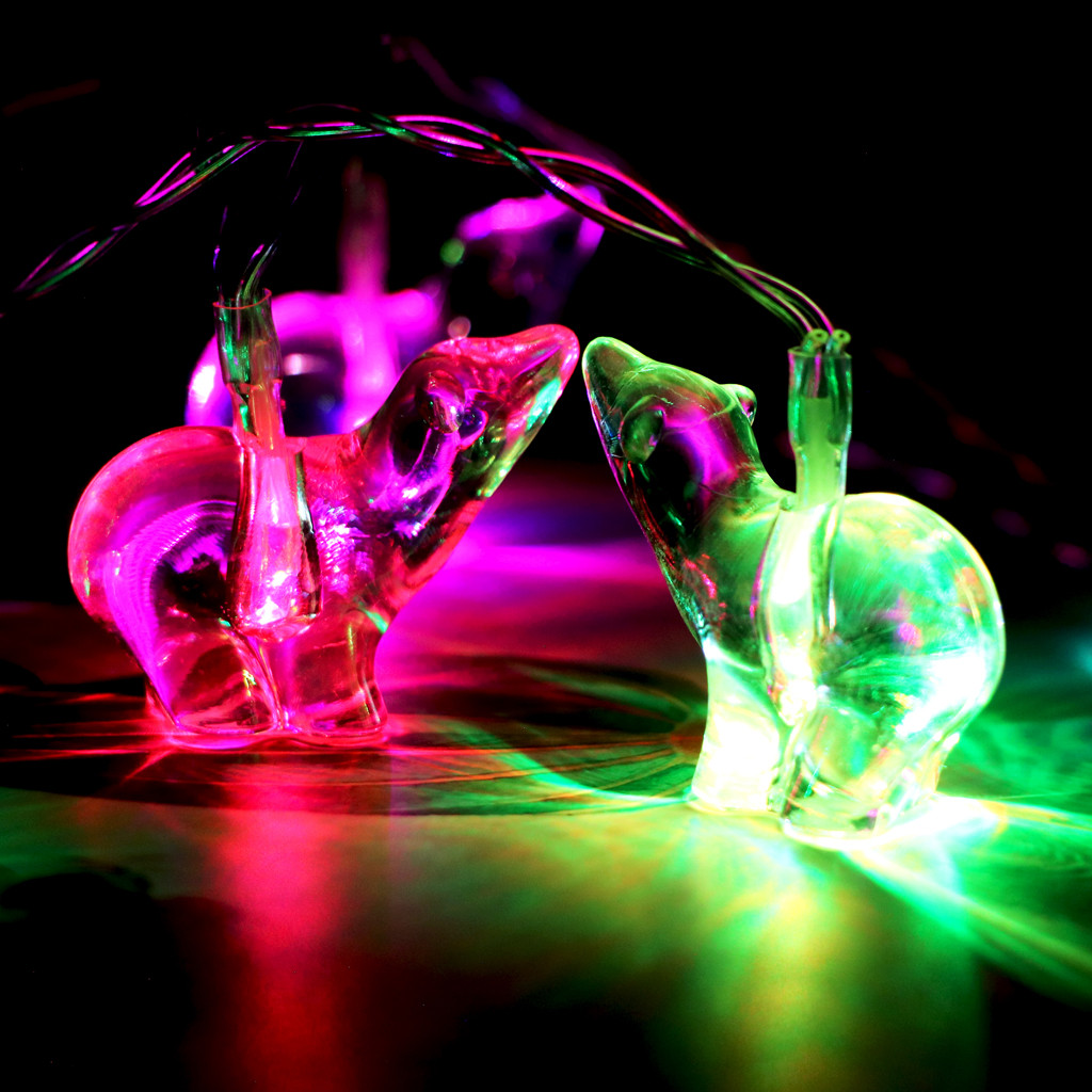 Led Light Multi-colored Safety Durable Polar-bear Lights Decorative Lights 10 Led Battery Type Home Party Night Decor