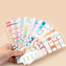 155pcs Retro Color Index Stickers Sticky Notes Bookmark Memo Pad Page Flag Kawaii Stationery Office School Supplies