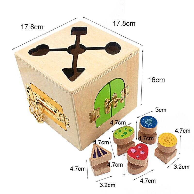 Boîte de déverrouillage multifonction Montessori aides pédagogiques blocs de construction bébé préscolaire apprentissage jouets éducatifs pour les tout-petits apprenant - 6