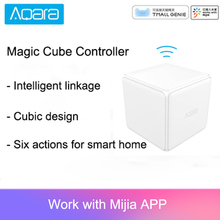 Aqara controlador de cubo mágico Zigbee, versión controlada por seis acciones para dispositivos inteligentes para el hogar, funciona con la aplicación para hogares mijia