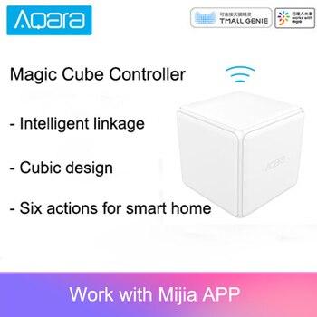 Aqara Sihirli Küp Denetleyici Zigbee Sürümü Tarafından Kontrol Edilen Altı Eylemler Akıllı Ev Cihazı Ile çalışmak Mijia Ev Uygulaması