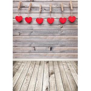 Image 1 - ולנטיין של יום צילום רקע עץ קיר רצפת לב ויניל תפאורות צילום סטודיו לילדים תינוק לחיות מחמד Photoshooting